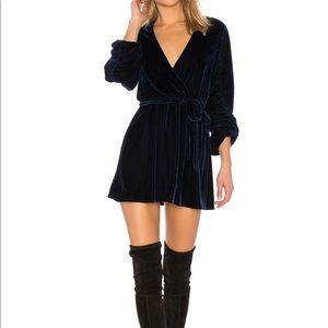 Tularosa tawney velvet dress